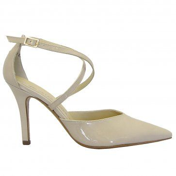 21eb41e9eb7 Peter Kaiser Dola lana crackle patent stiletto shoes - classy pointy toe  shoes in soft cream patent
