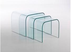 Tavolino da salotto in vetro curvato Tunnel tre in 2019 ...