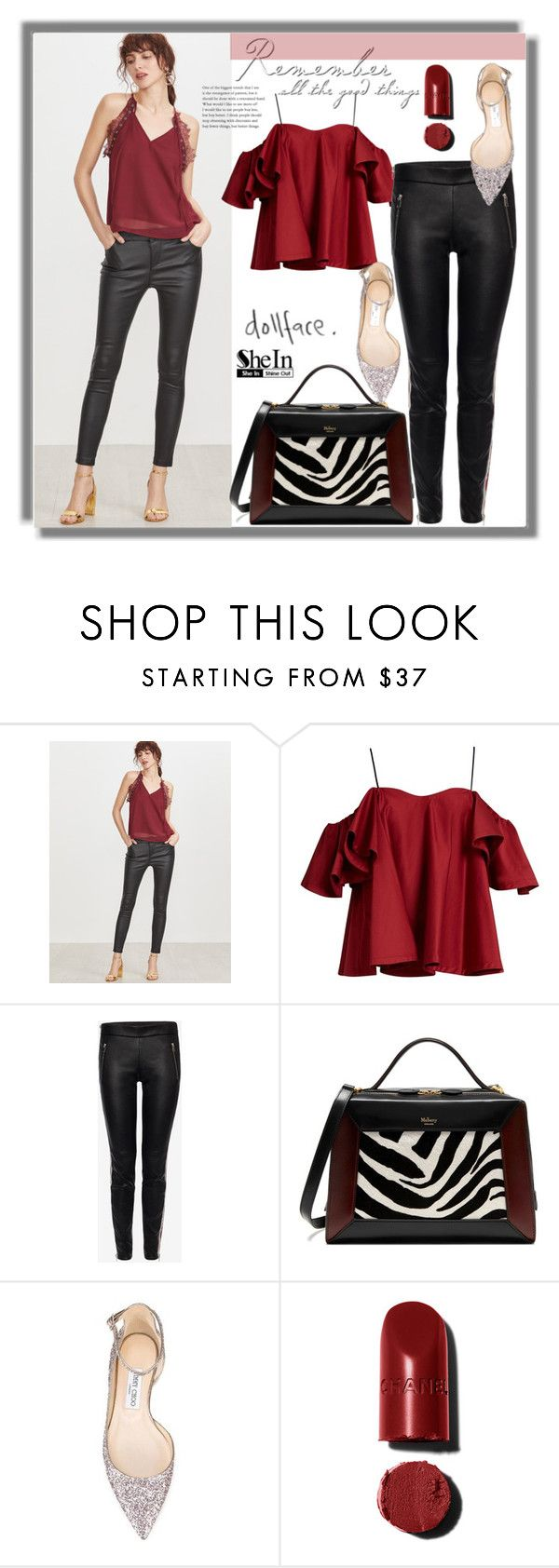 """""""Untitled #1588"""" by kriz-nambikatt ❤ liked on Polyvore featuring Anna October, Alexander McQueen, Mulberry and Jimmy Choo"""