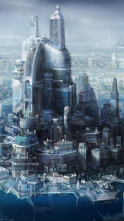 Fantasy Futuristic City Art