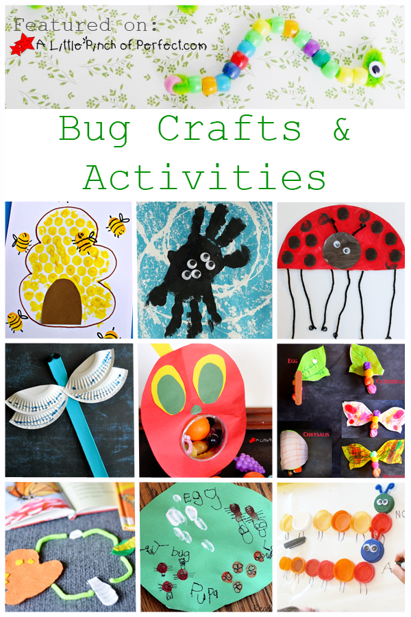 26 Fun Bug Themed Crafts, Activities, and Printables for ...