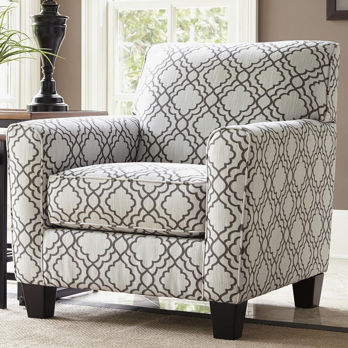 Excellent Signature Design By Ashley Farouh Accent Chair In Pearl Short Links Chair Design For Home Short Linksinfo