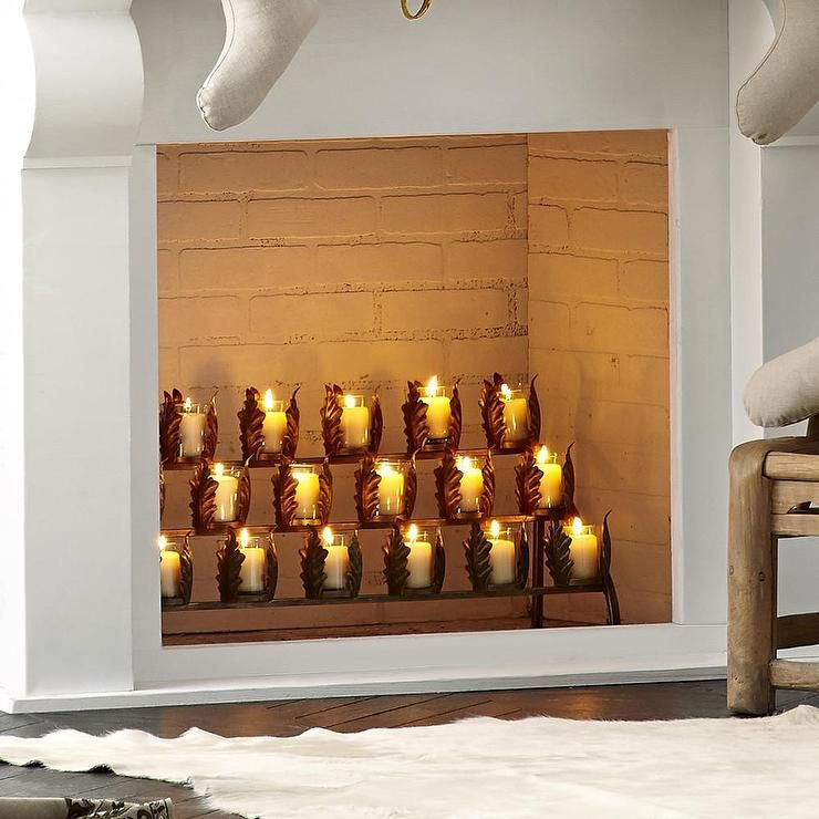 Candles In A Fireplace Pictures: Candle Holders For Fireplace Mantel
