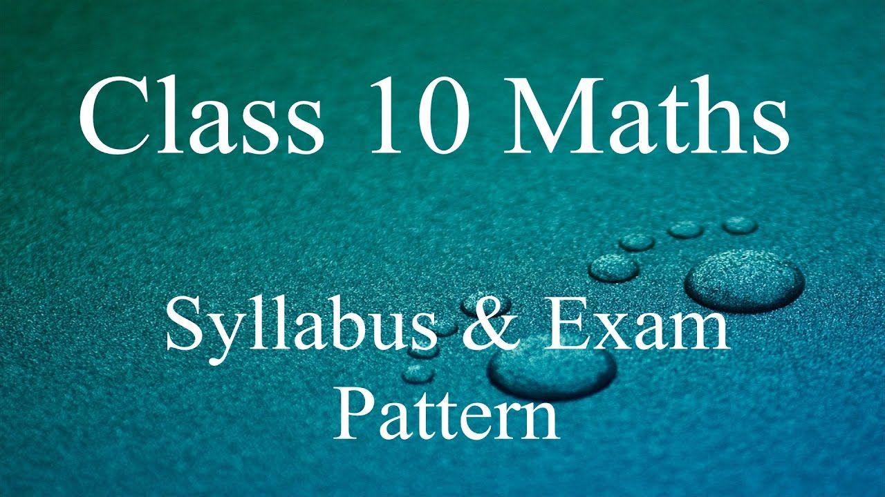 CBSE Class 10th Syllabus Exam Pattern and Way of Study   NCERT ...
