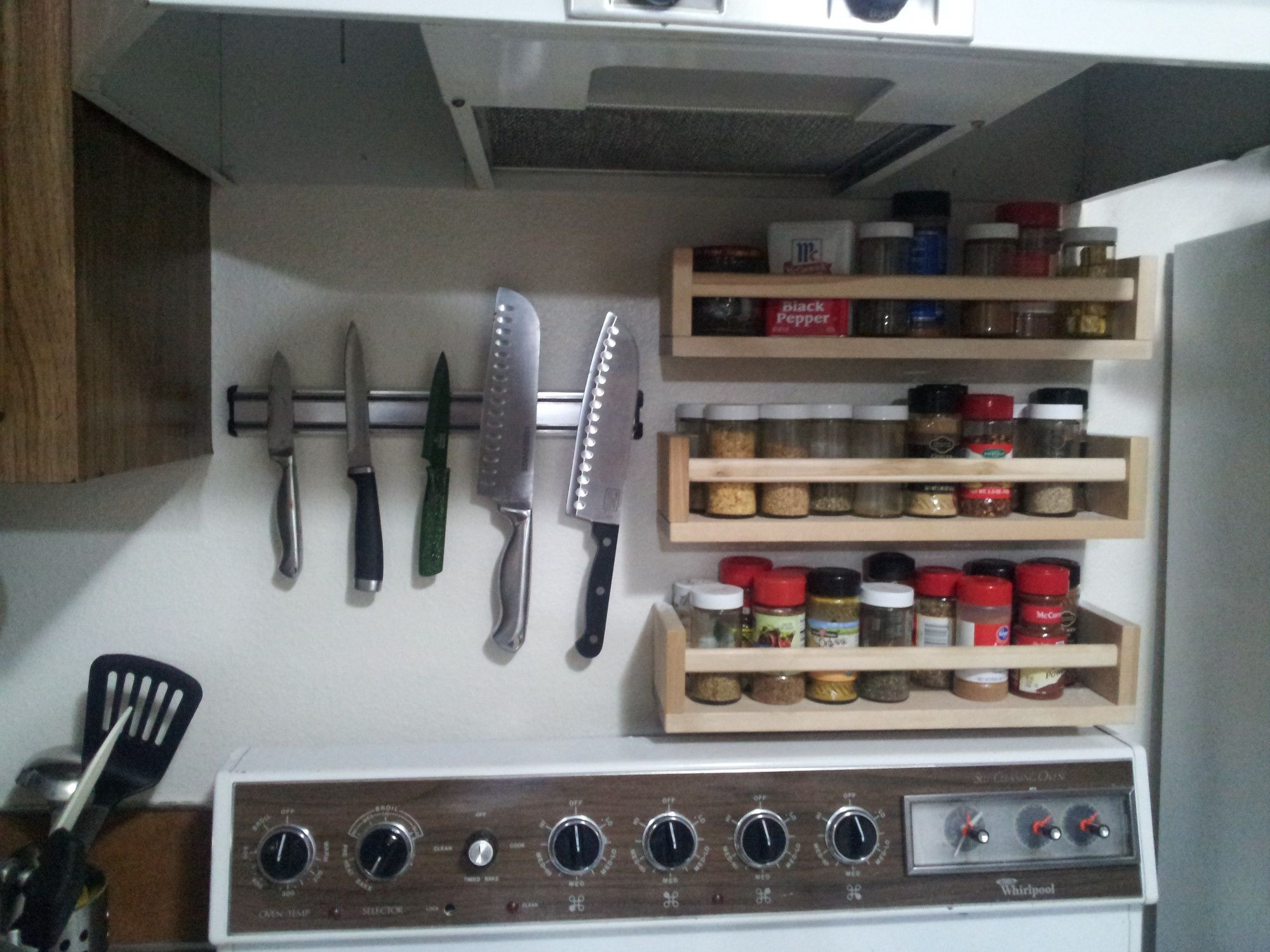 Stainless steel spice rack wall mount - Shelves Knives And Spice Racks