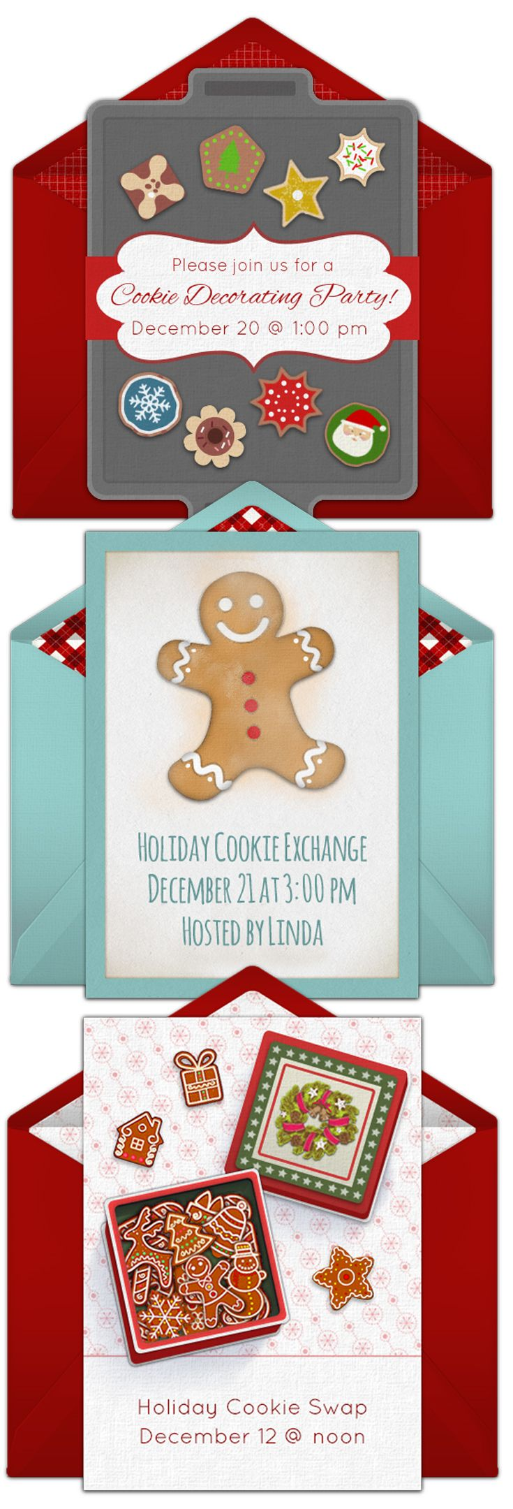 Online Invitations from   Cookie decorating party, Cookie exchange ...