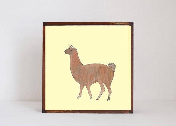 Llama southwestern nursery art -peru wall art- animal prints- gender ...