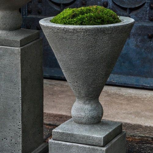Campania International Rustic Manhattan Small Urn Cast Stone Planter Www Hayneedle Com Stone Planters Small Urns Planter Pots Outdoor