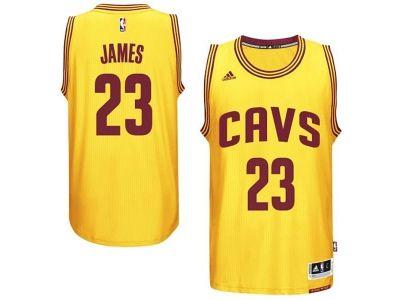 size 40 eb3f4 0b23e Men Cleveland Cavaliers #23 LeBron James Gold Home Alternate ...