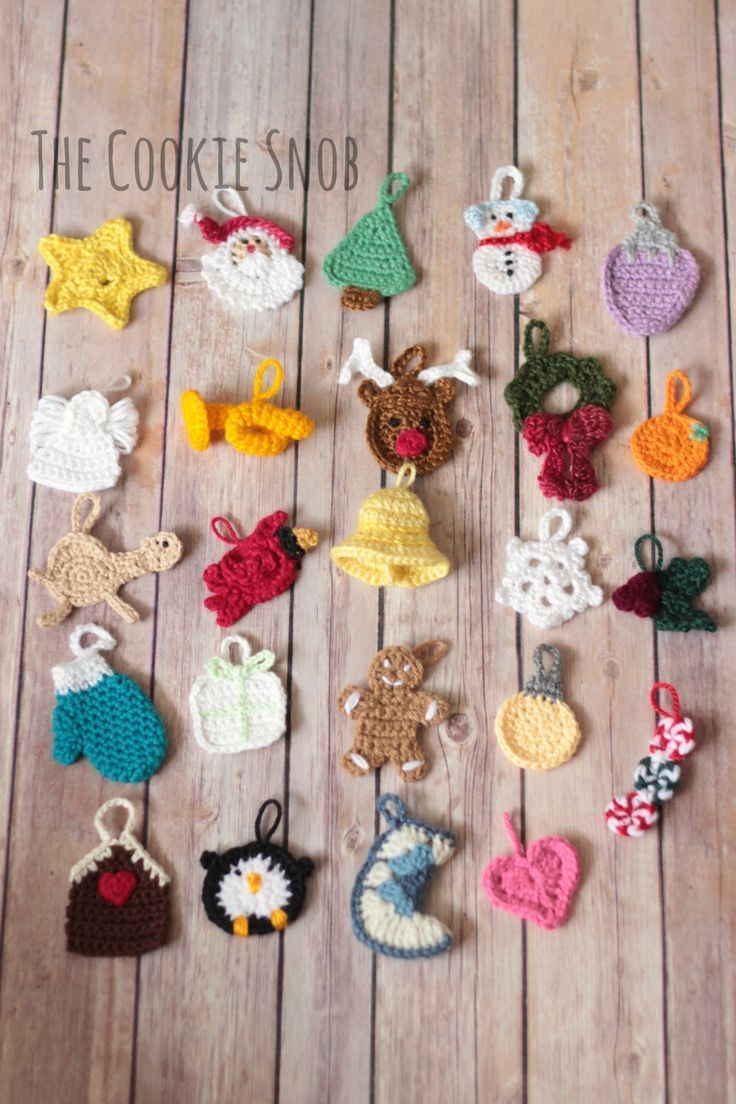 Diy les decorations au crochet pour le calendrier de lavent christmas tree ad weebly website - Decoration au crochet ...