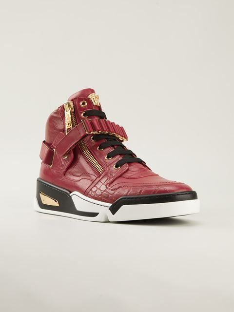 Versace Zipped Hi-top Sneakers - Biondini Paris - Farfetch ...