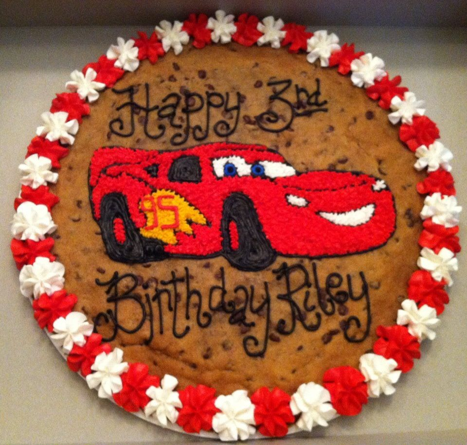 Astounding Cars Birthday Cookie Cake Cookiecake Cookie Nestle Personalised Birthday Cards Veneteletsinfo
