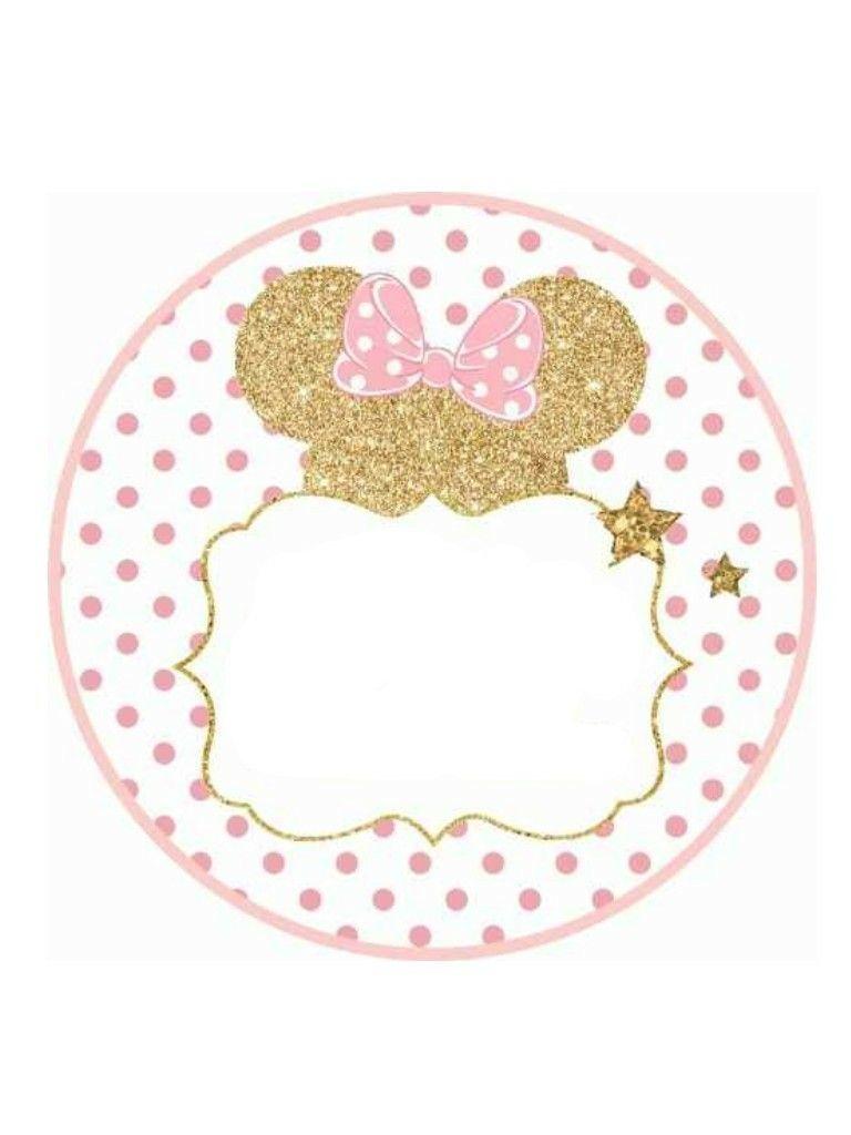 Renata Bautizo Y 1er Año Invitación De Minnie Mouse