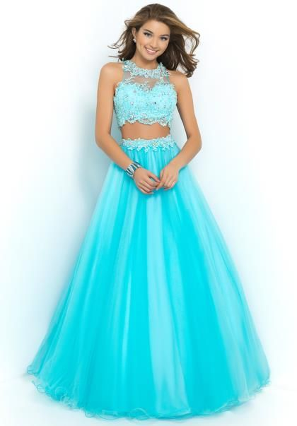 2015 Blush Two Piece Prom Dress 5430