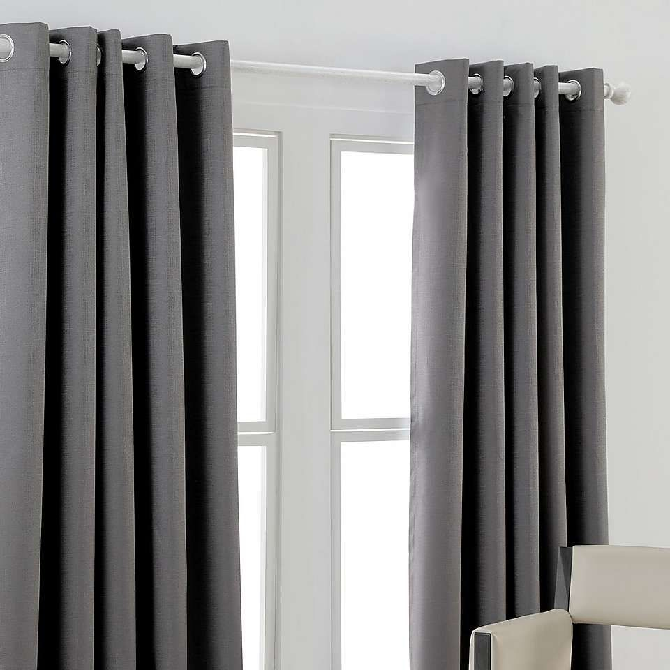Georgia Charcoal Blackout Eyelet Curtains Dunelm Curtains Blackout Eyelet Curtains Curtains Dunelm