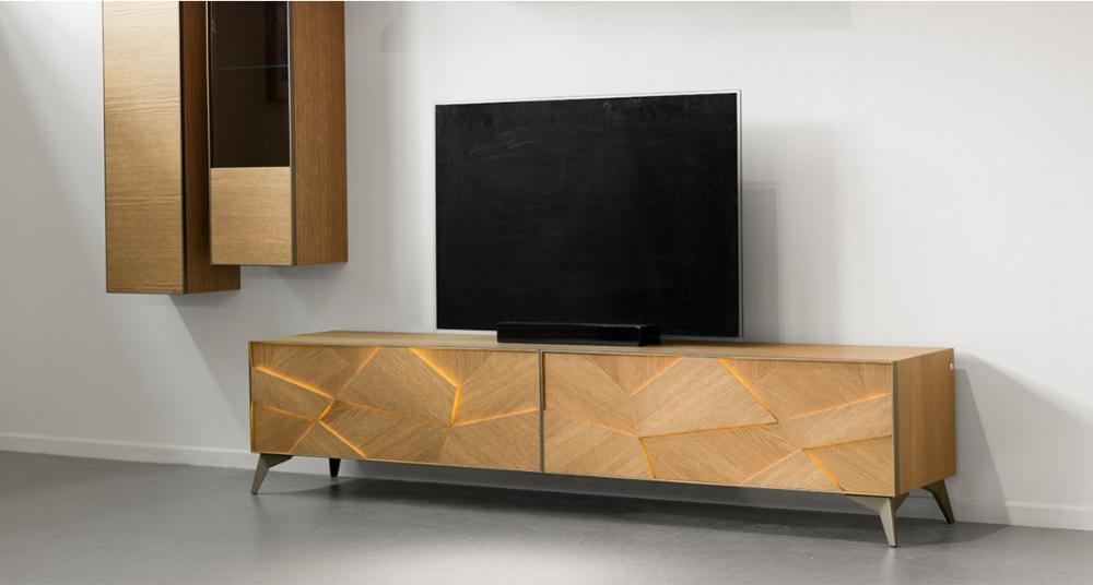 meuble tv 2 portes abattantes