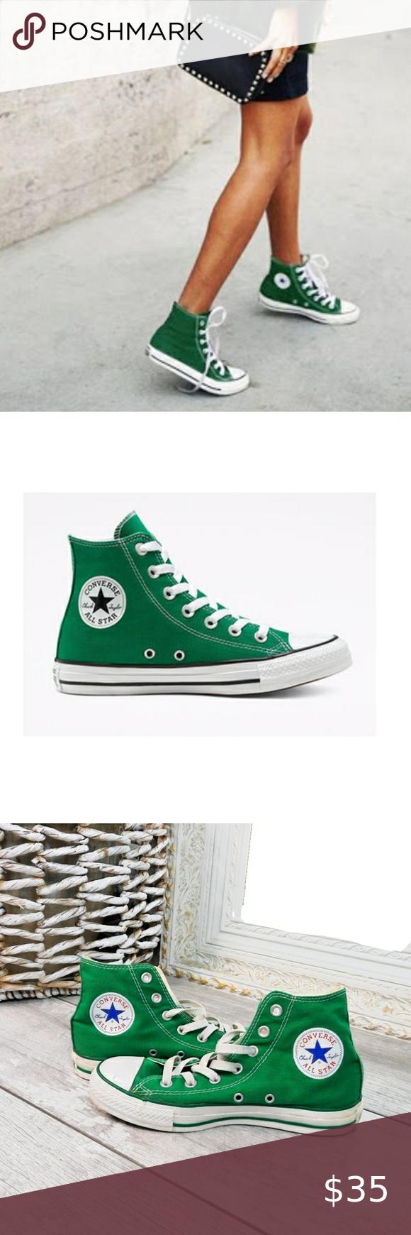 CONVERSE WMN 7 GREEN ALL STAR HI TOP