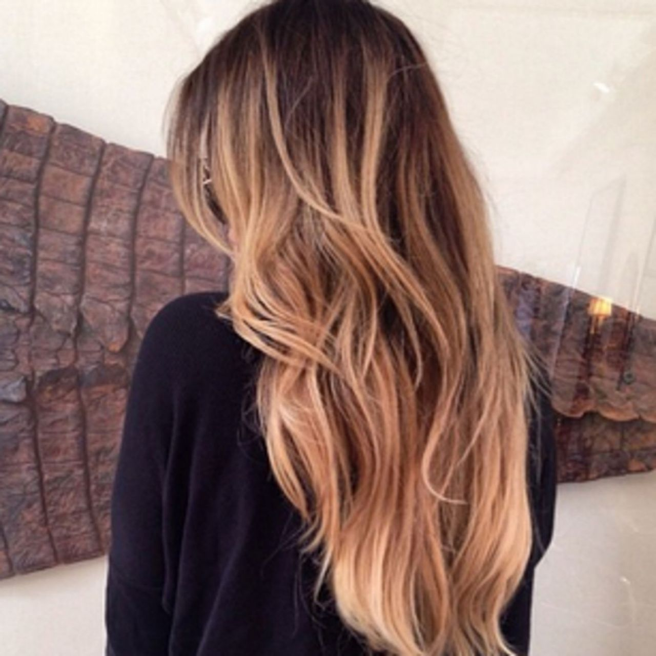 Gold Highlights On Black Hair Hair Pinterest Black Hair Color