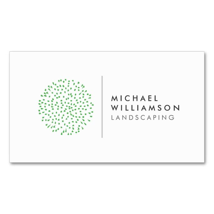 Modern gardener landscaping logo on white double sided standard modern gardener landscaping logo on white business card reheart