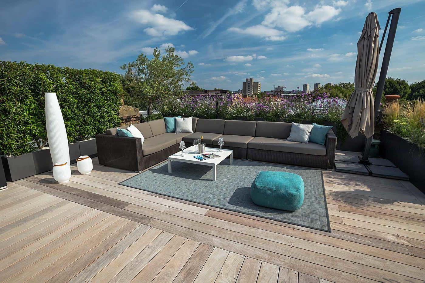 Eigentijds luxe en onderhoudsvriendelijk dakterras dakterras