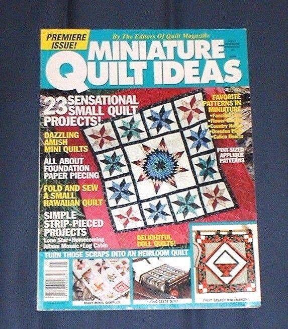 1995 book MINIATURE QUILT IDEAS #5 ~ 23 quilting patterns, Amish, fans, Hawaiian #MiniatureQuilts