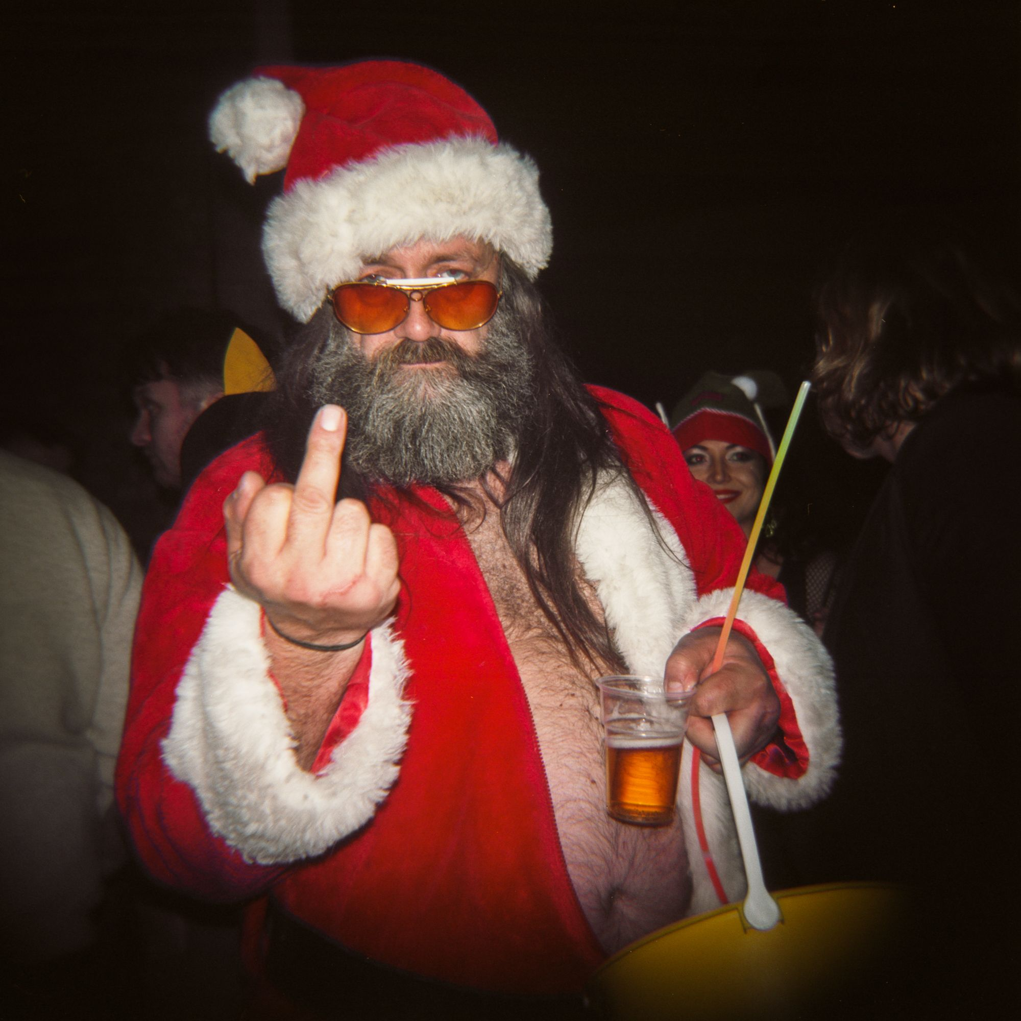 A Very Very Bad Santa At A Christmas Party In London Oc 2000 X 2000 Bad Santa Creepy Christmas Christmas Humor