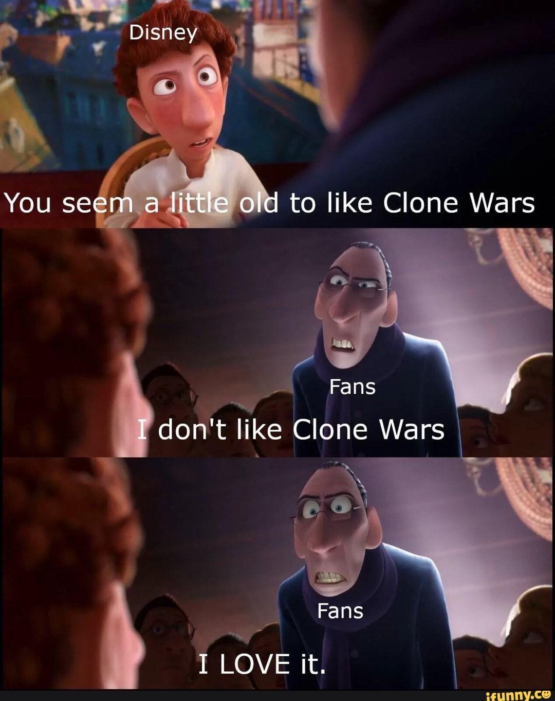 J Don T Like Clone Wars Ifunny Funny Star Wars Memes Star Wars Jokes Star Wars Humor