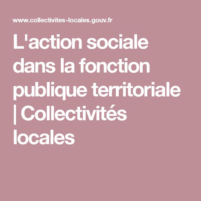 487456c3214 L action sociale dans la fonction publique territoriale ...
