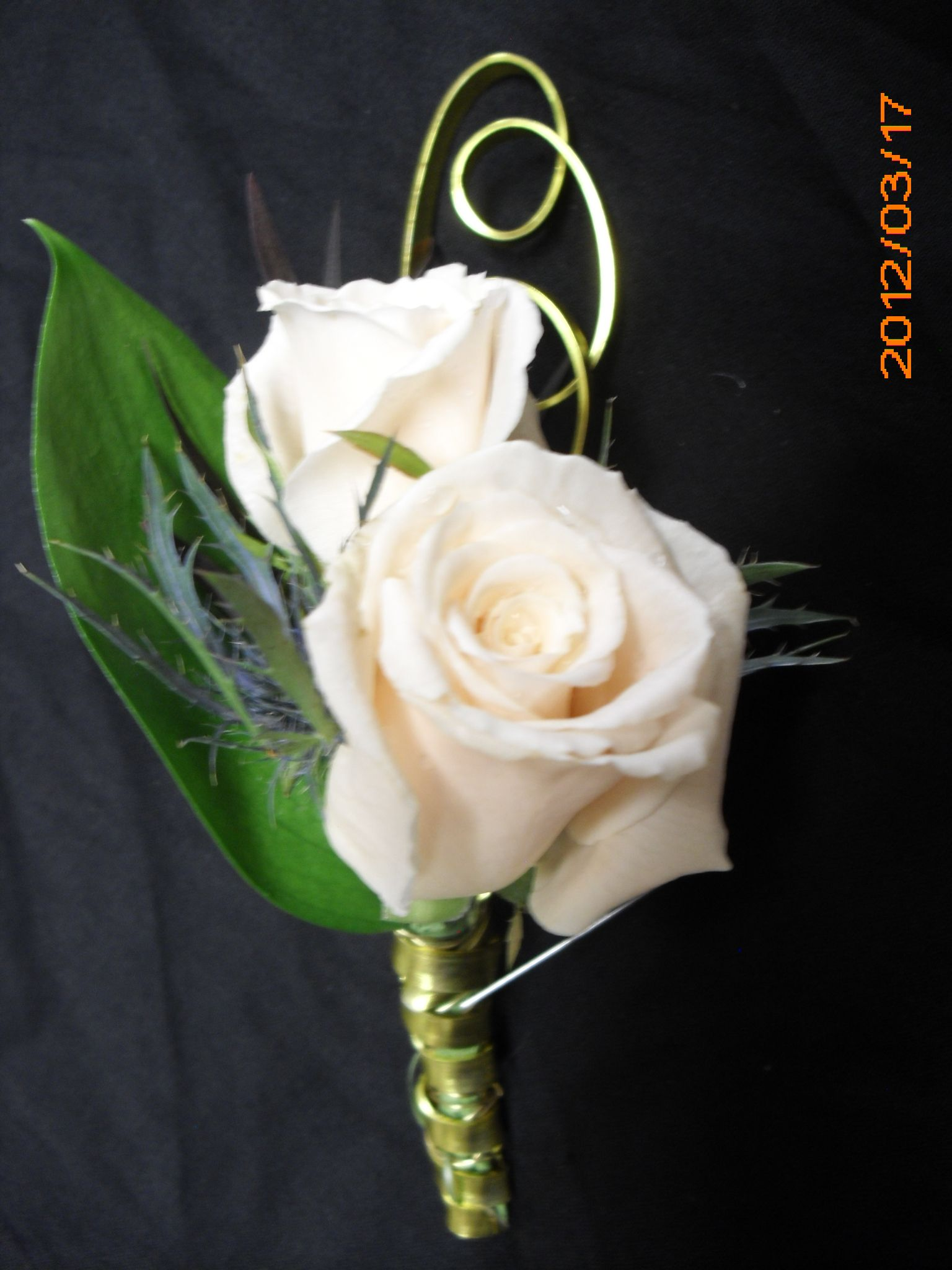 cream rose boutonniere for wedding, events and prom. | My corsages ...