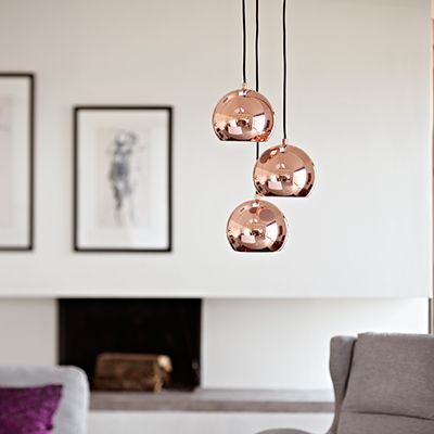 replica tom dixon copper shade pendant light