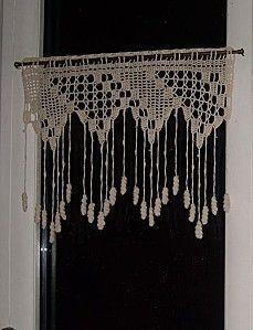 rideau interesting fringe crochet for windows and macrame it could work pinterest. Black Bedroom Furniture Sets. Home Design Ideas