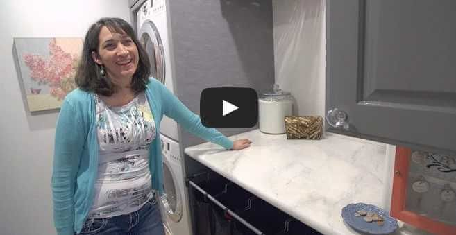 A $400 Laundry Room Makeover by a Creative Mom of 6 - http://www.amazinginteriordesign.com/a-400-laundry-room-makeover-by-a-creative-mom-of-6/