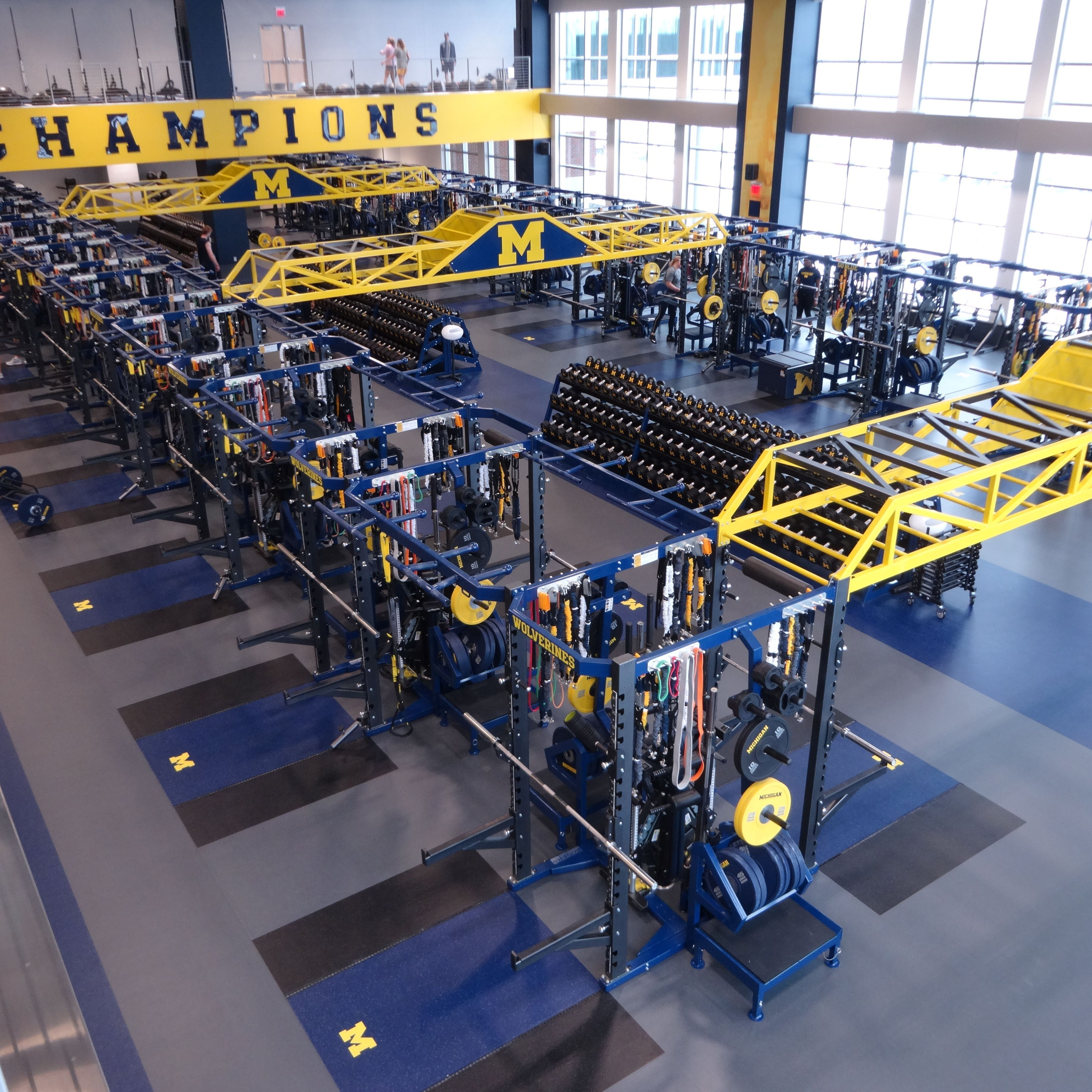 University Of Michigan Olympic Weightroom With Perform X Training Systems Https Www Perform X Com Michigan Football Michigan Sports Michigan