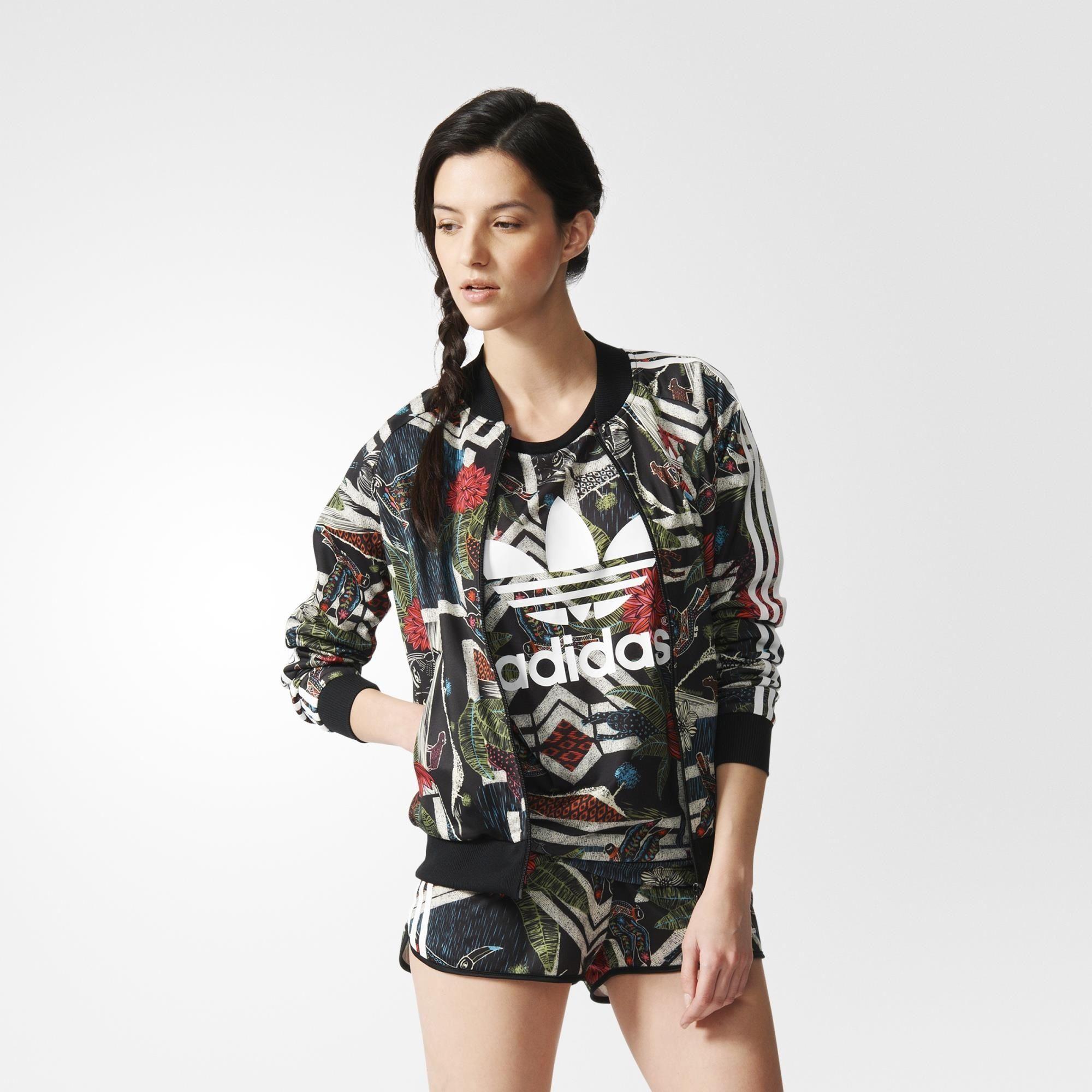 buy online 334a8 b8bc5 adidas - Farm Curso d Agua Superstar Track Top