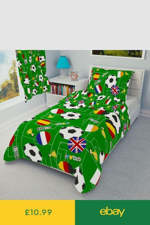 FUSSBALL Jungen Bettwäsche Set Bettbezüge für Kinderbett