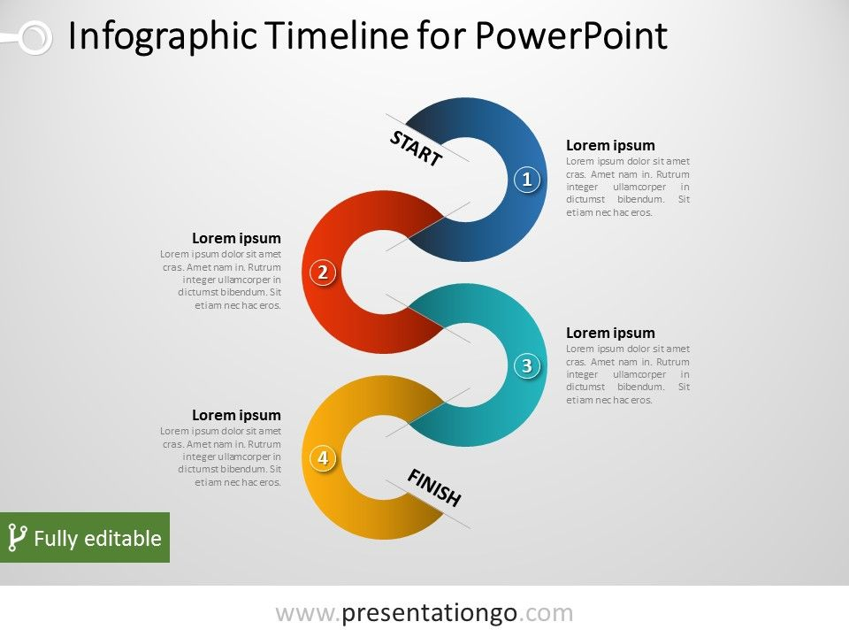 Free Vertical Timeline Infographic For Powerpoint | Powerpoint