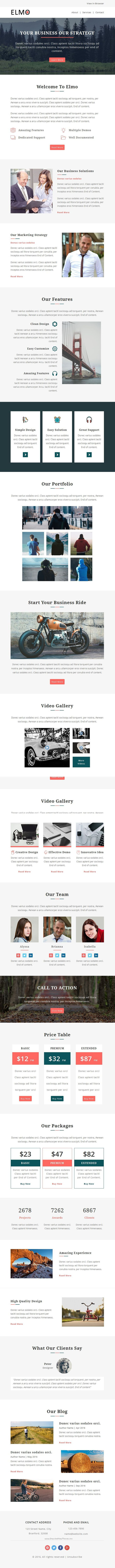 Elmo - Multipurpose Responsive Email Template + Stampready Builder ...