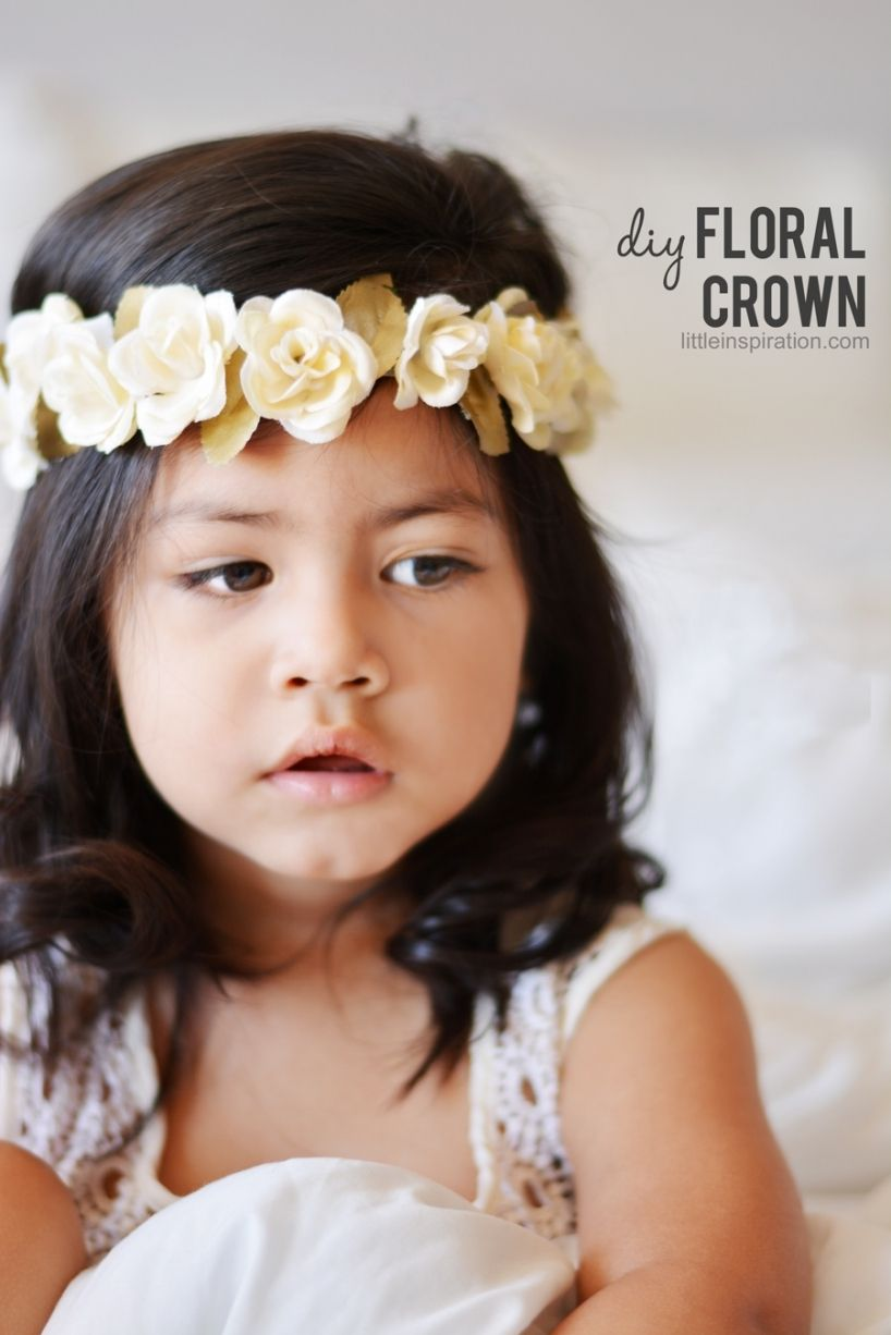 Diy flower crown baby girl hair ideas pinterest diy flower diy flower crown for flower girl izmirmasajfo Gallery