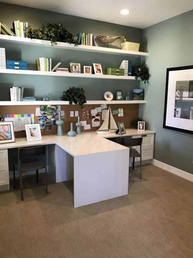 32 home office decor ideas for your perfect work at lovely ...
