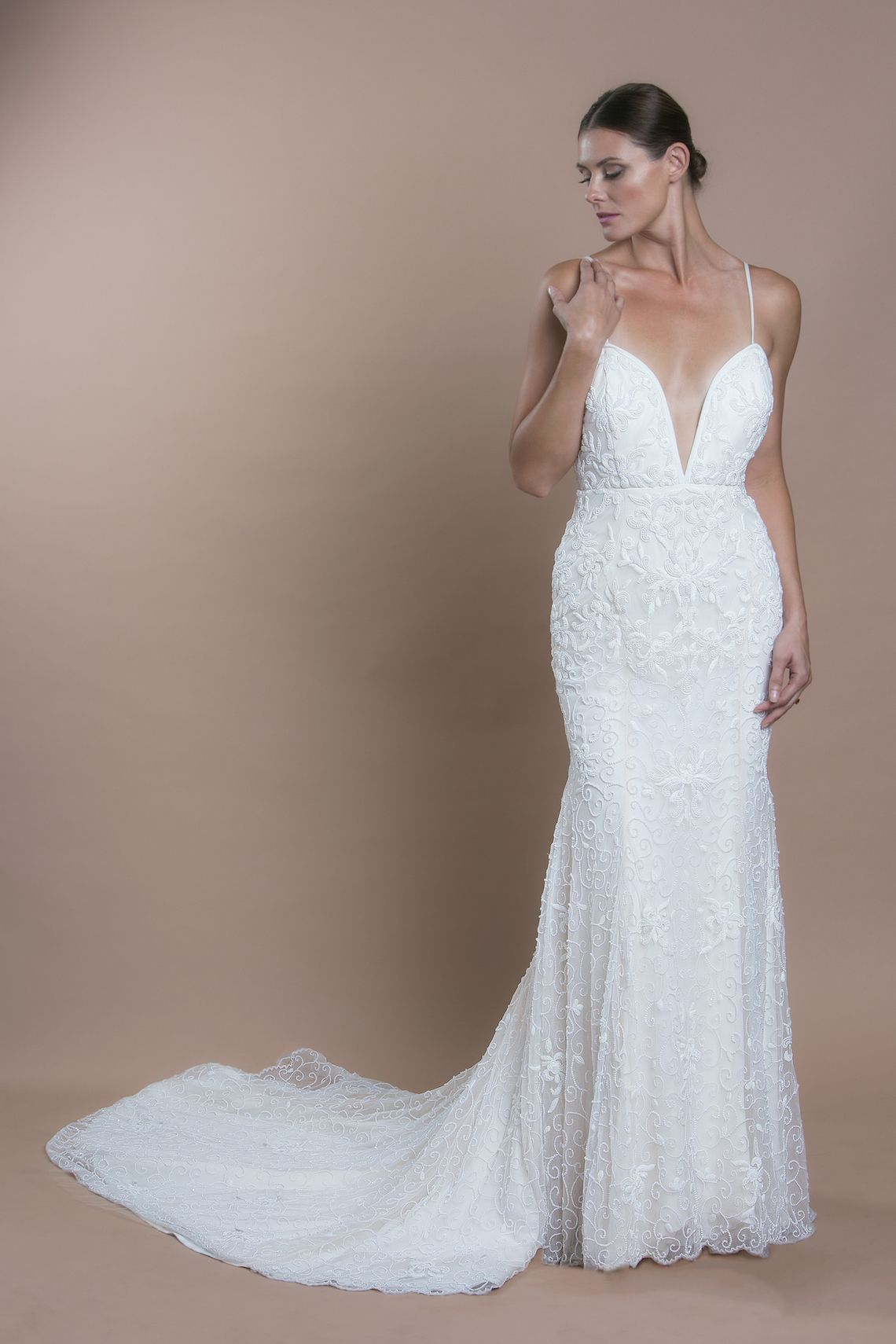Dianna agron wedding dress  Floralinspired wedding dresses for when the bridal bouquet is not