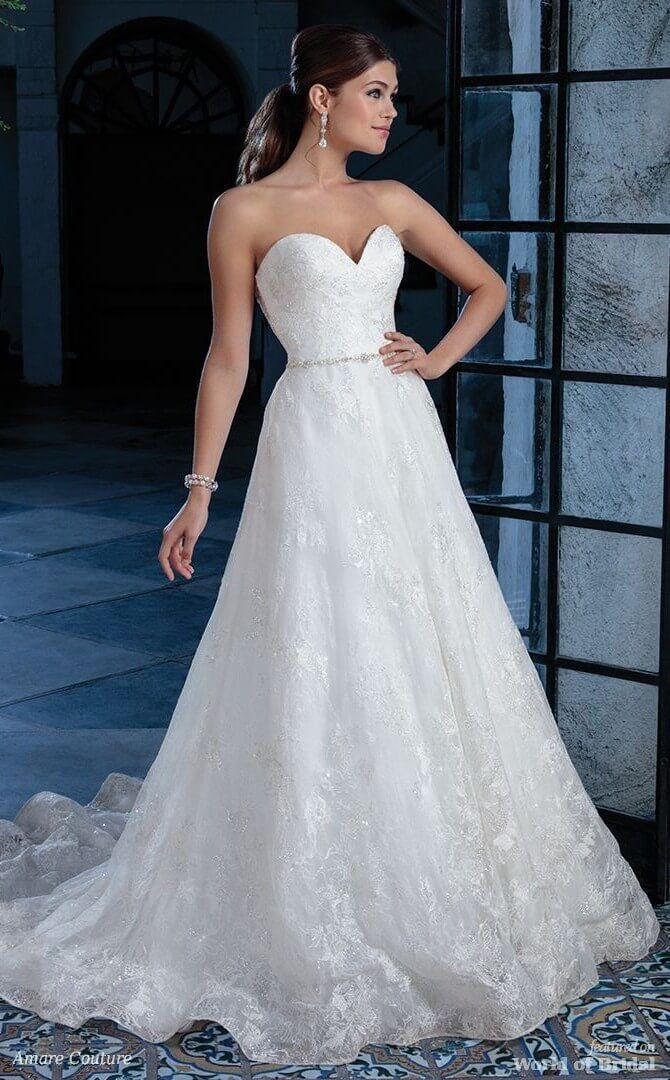 A Line Wedding Dresses For The Upscale Bride Who Prefers To Be More Unuming In Luxury She Clothe Dress Picture And Clothing