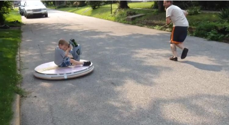 A homemade tethered hovercraft for kids built with a leaf blower a homemade tethered hovercraft for kids built with a leaf blower and insulation boards solutioingenieria Image collections