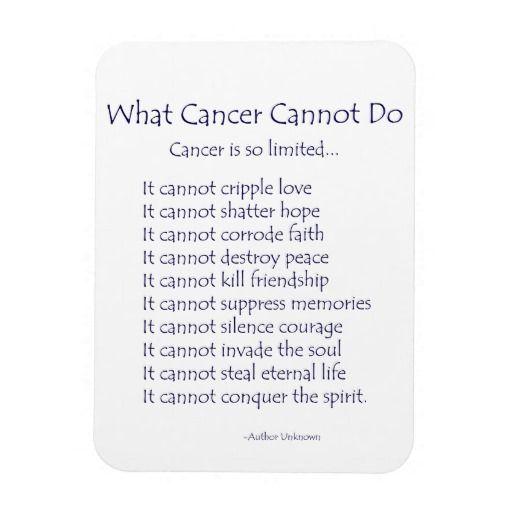What Cancer Cannot Do Inspiration Poem Magnet