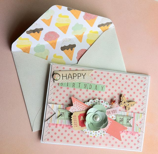 Embellished birthday card