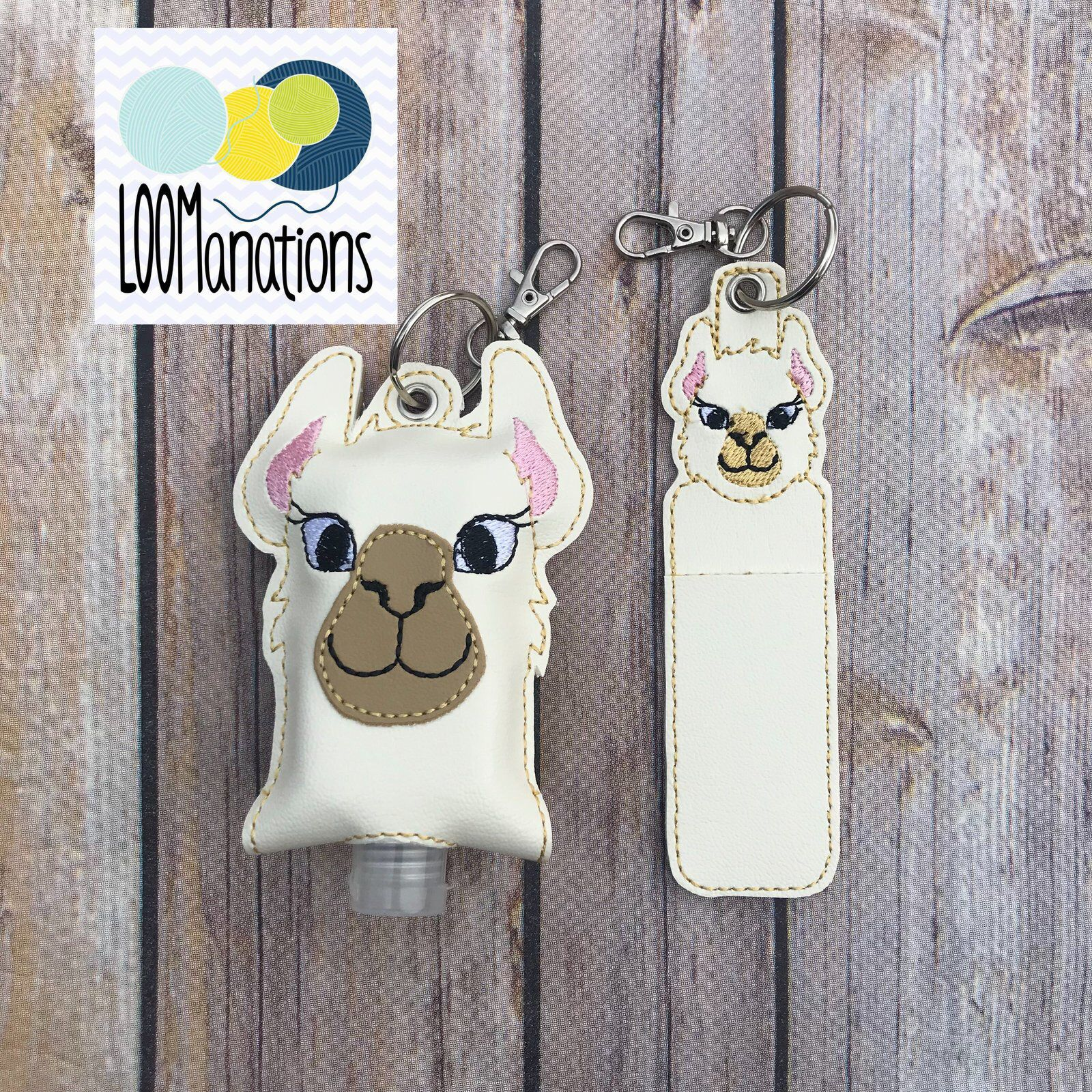 Llama Hand Sanitizer Case And Lip Balm Holder By Loomanations On