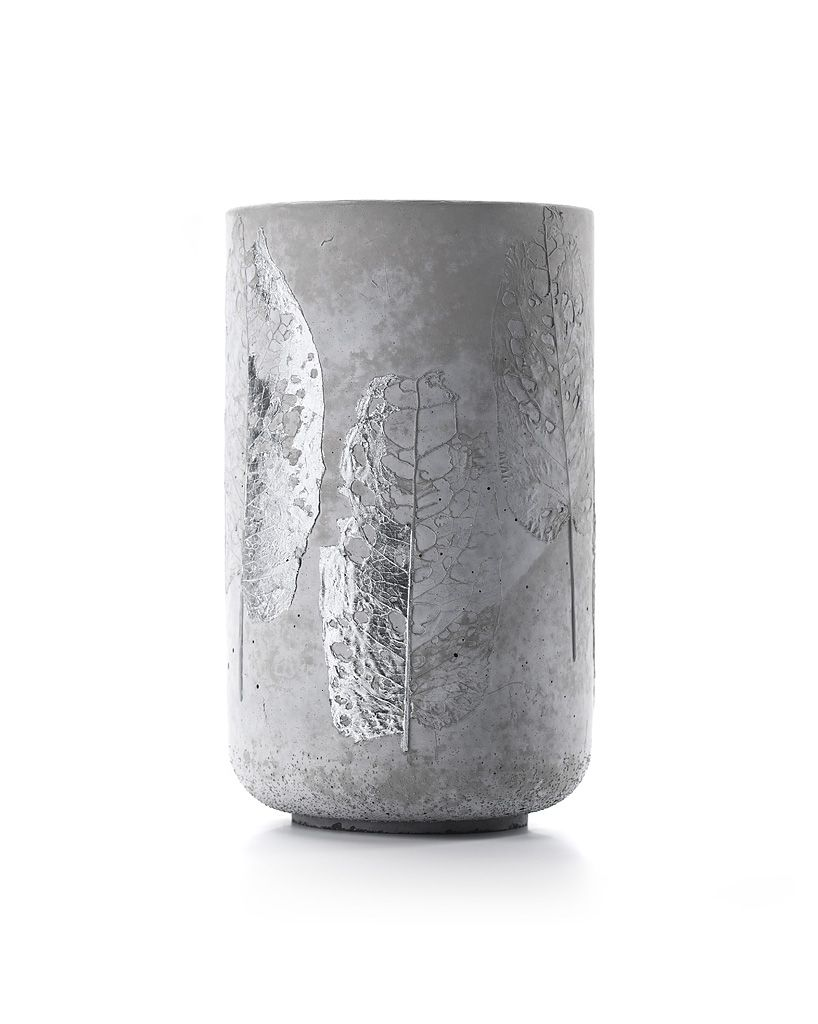 Concrete Vase silver