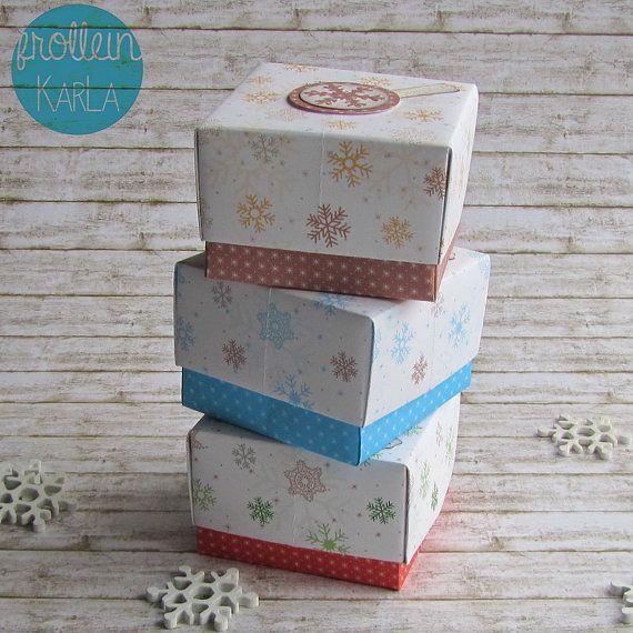 Geschenkschachtel Schneeflocke von FrolleinKarLa auf Etsy