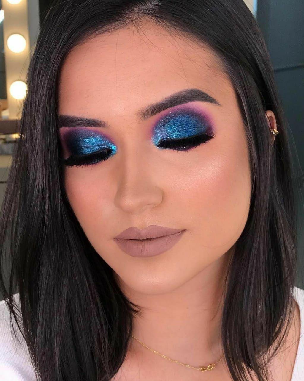 Makes Para Te Inspirar No Novembro Azul Maquiagem Festa