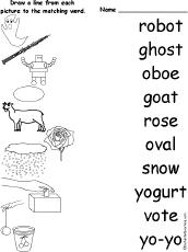 Long O Alphabet Activities at EnchantedLearning.com
