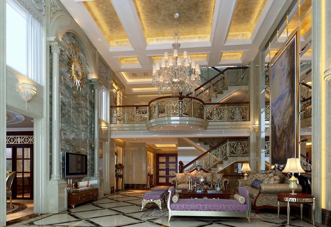 Luxury Villas Interior Design Amusing Luxury European Villa Interior ...